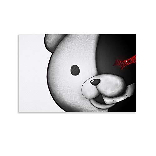 SDFERG Anime Danganronpa Teddy Be Poster, dekoratives Gemälde, Leinwand, Wandkunst, Wohnzimmer, Poster, Schlafzimmer, Malerei, 20 x 30 cm