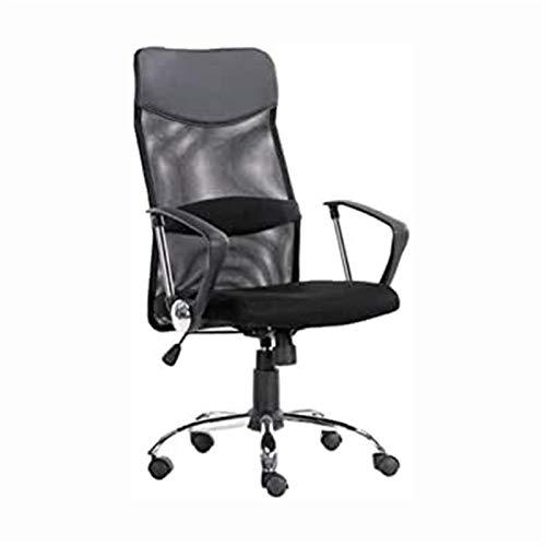HMBB Sillas de escritorio, silla de oficina, silla ergonómica de oficina, silla de oficina de respaldo alto, silla de altura ajustable, respaldo de malla transpirable, cojín de espuma suave (negro)