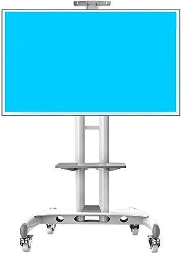 Soporte universal para TV de sobremesa Carrito para TV con almacenamiento, giratorio independiente Soporte universal para TV para esquina de salas de conferencias de dormitorio, para TV de pantalla p