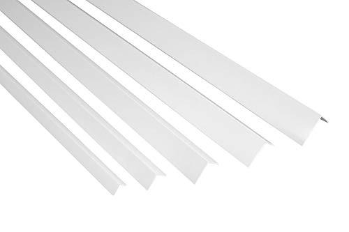 Ángulos de listones de 2metros, de PVC, antigolpes, varios tamaños, perfiles en F, medidas: 40x 40mm, F22