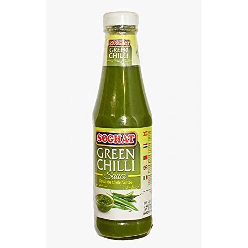 Soghat - Peperoncino verde - Salsa verde al peperoncino - Prodotto asiatico - 330 grammi