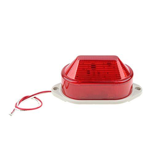 LED-Notleuchte Blinkende Warnlicht Lampe Rundumleuchten Warnlampe Staubdicht und Wasserfest Beacon Licht AC220V (Rot)