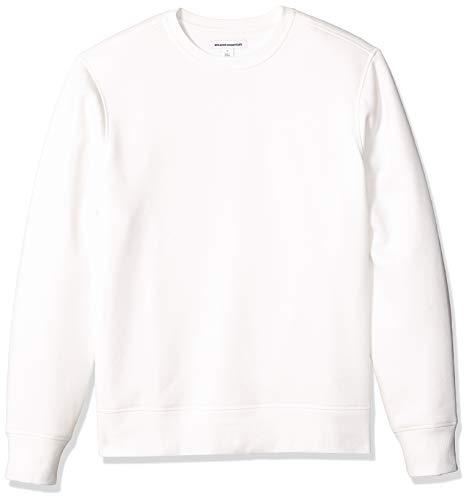 Amazon Essentials Men's Long-Sleeve Crewneck Fleece Sweatshirt, Off-White, Small