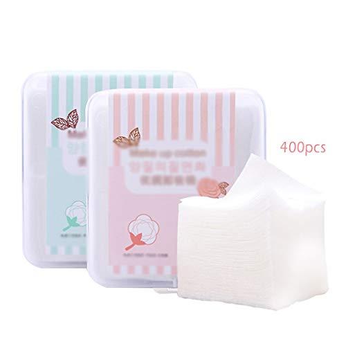 DUOER HOME Gesichtsmake-up Entferner 400 stücke Bio-Baumwolle Pads Makeup Baumwolltücher Makeup Servietten Entferner Bio Coton Wipes Naturkosmetik Quadrate Puff (Color : White, Größe : 5 * 6)