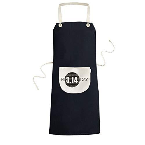beatChong 3.14 Pi Día Aniversario de cocción de la Cocina Negro Bib Delantal con Bolsillo para los Regalos de Las Mujeres de los Hombres del Cocinero