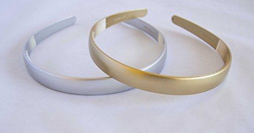 Pack 2 Bandeau de 1,5 cm en couleurs argent et or. Expédition gratuite 72H