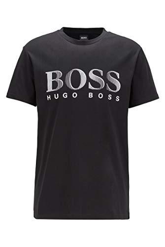 Boss T-Shirt Rundhals UV Protection, Nero (Black 007), Medium Uomo
