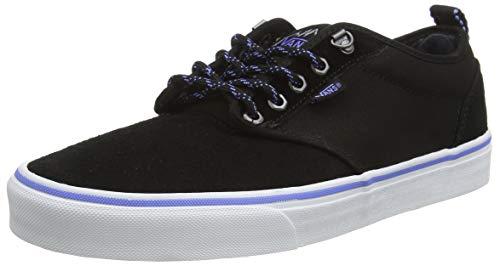 Vans Herren Atwood Textile Suede Sneaker, Schwarz ((Outdoor) Black/White Ugv), 50 EU