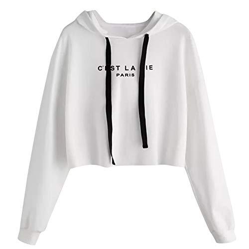 Lulupi Felpa Donna Autunno Manica O-Collo Grandi Sweatshirt Tumblr Hoodie Maniche Lunghe Casual Top Elegante Camicetta