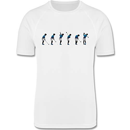 Sport Kind - Golf Abschlag - 164 (14/15 Jahre) - Weiß - golfschläger Kinder - F350K - atmungsaktives Laufshirt/Funktionsshirt für Mädchen und Jungen