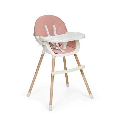 Innovaciones MS 2041 - Trona Para Bebe Mika, Convertible En Silla - 2 En 1 - Doble Bandeja, Evolutiva Y Segura, niñas, Rosa