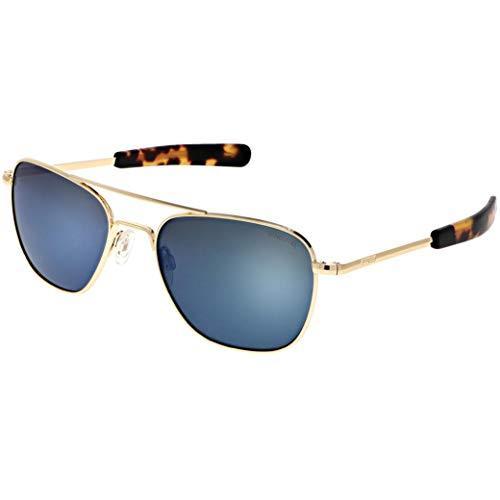 Randolph Gold Classic Aviator Gafas de sol para hombre o mujer, 100% UV