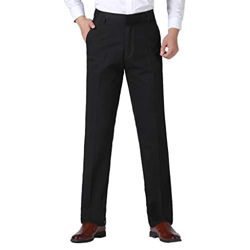 Skxinn Anzughose/Herren Hosen Stretch & komfortablem Sitz, Herren-Hose in Mehreren Farben, Chino für Herren, für Business & Freizeit(Schwarz,36)