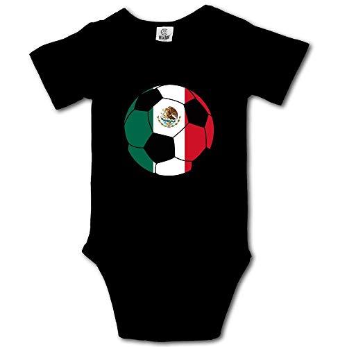 Mameluco de Mono de Manga Corta para bebé de fútbol de México Onesies