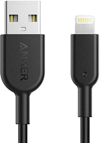Anker iPhone Ladekabel Powerline II iPhone Kabel 0,9m Lightning Kabel, Apple MFi-Zertifiziert für iPhone XS/XS Max/XR/X/ 8/8 Plus/ 7/7 Plus/ 6s/ 6/6 Plus/ 5S/ 5/ iPad Pro (Schwarz)