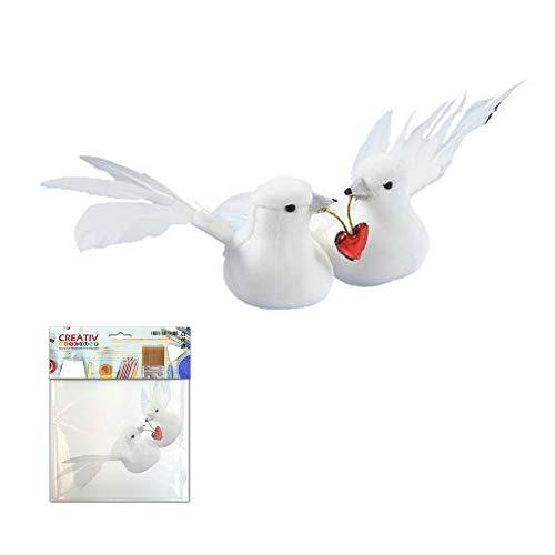 CREATIV DISCOUNT ® Taubenpaar mit Herz, ca. 8 cm breit [Spielzeug]