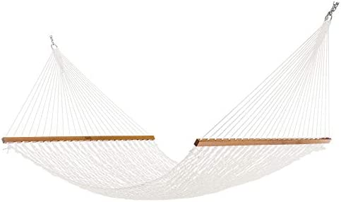Nags Head Hammocks NH14P Extra Wide Polyester Rope Hammock with Free Extension Chains Tree Hooks product image