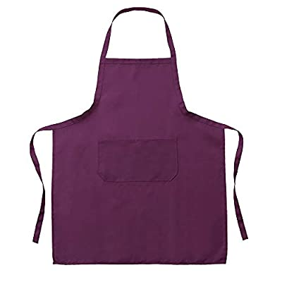 Clothful Kitchen Gadgets,New Plain Unisex Cooking Catering Work Apron Tabard with Twin Double Pocket Solid Color Apron,Cooking Apron from Clothful999