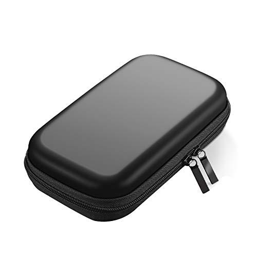 Xbd Electrónico Organizador de Cable de Viaje,Funda Disco Duro Externo,Bolsa de Cable Multifucional para Viaje Cables USB Power Bank Auriculares Tarjeta de Memoria- Negro