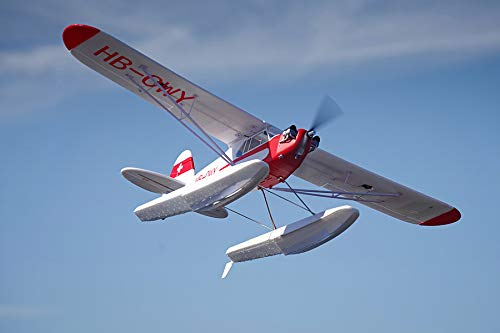 FMS J3 Cub V3 1400mm Wingspan with Floats 4CH RC Airplane Water Sea Plane PNP (No Radio, Battery, Charger)