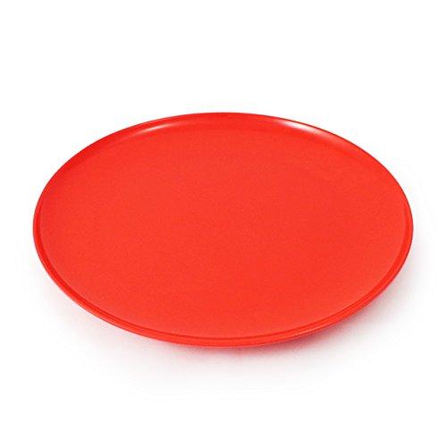 CARTAFFINI – Plat Coupe en mélamine, ø 24 cm – Rouge