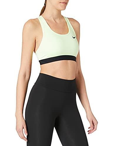 Nike BV3900-701 Swoosh Band Bra Non Pad Reggiseno Sportivo Donna Barely Volt/Black/(Black) M