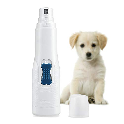 AMIR Dog Nail Grinder, Pet Nail Clippers, Gentle Paws Electric Nail Grinder Grooming Kit, Ultra Quiet Pet Nail Trimmer for Dogs, Cats, Pet and Other Medium & Small Pets