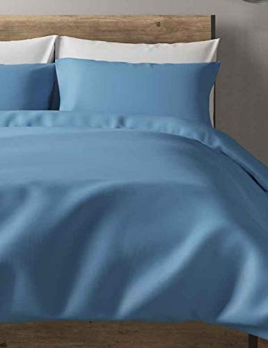 Splingz Hotel Quality 300 Thread Count Duvet Cover set - 100% Egyptian Cotton (Blue, Double)