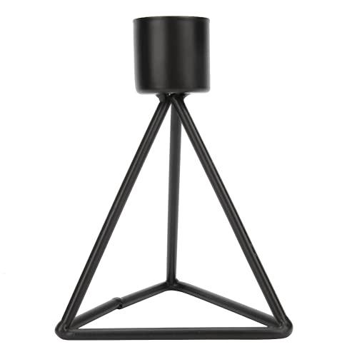 Portavelas Negro, Candelabros Innovadores Y Duraderos De Metal De Una Sola Cabeza para Comedor para Decoración De Bodas para Velas Cónicas(Estilo Alto)
