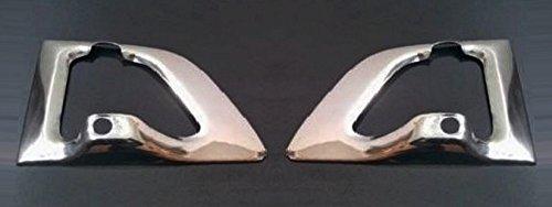 2 x couvertures de poignée de porte miroir en acier inoxydable pour Scania Série R camions Décor