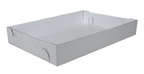 Southern Champion Tray 1190 Bright White Corrugated Greaseproof Non Window Sheet Cake Box Bottom, 26' Length x 18' Width x 4' Height (Case of 25)