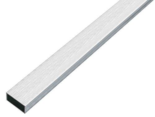 GAH-Alberts 488840 Rechteckrohr - Aluminium, edelstahldesign, hell, 1000 x 20 x 10 mm