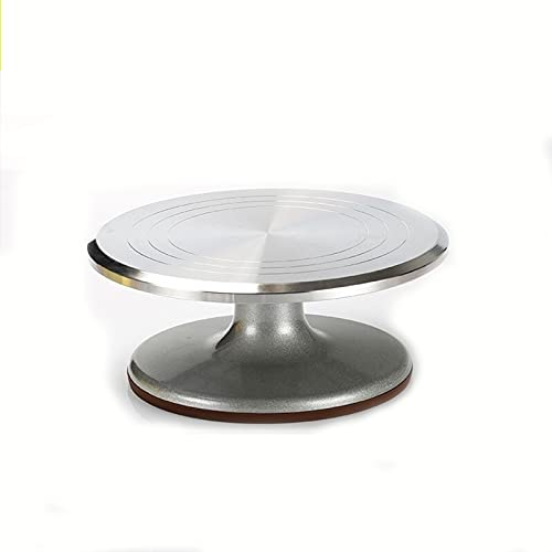 Zay Luay Turnato de Torta Giratorio de la Torta giratoria de la aleación de Aluminio, Suministros de decoración de Pasteles para Hornear