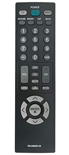 MKJ36998126 Replaced Remote Control Compatible with LG TV AKB73655805 32LV2400 42LV4400 47LV4400 55LV4400 32LV2400-UA 47LV4400-UA 55LV4400-UA 42LV4400-UA