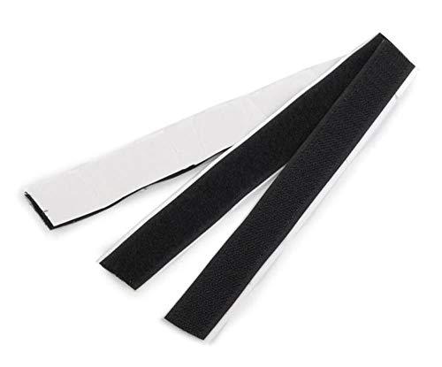 10pr Schwarz Klebe-Klettverschluss Breite 20mm, selbstklebend, Haken-und-loop-Verschlüsse, Klettverschluss