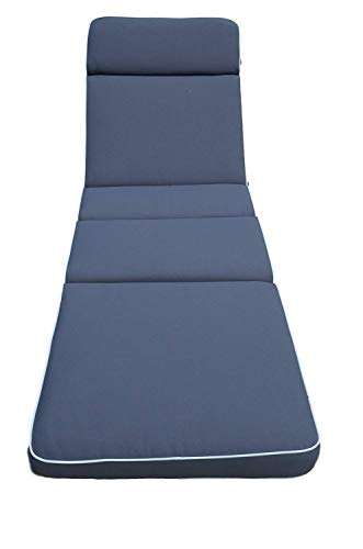 Field & Hawken Luxury Slate Grey Sun Lounger Cushion | Premium 80 mm Fibre Filling | Extra Comfort | 230 gsm Removable, durable cover | Cushion Only