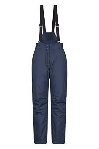 Mountain Warehouse Moon Skihose für Damen - Wasserabweisende Damenhose, Verstellbarer Bund, abnehmbare Träger, Taschen - Ideale Skibekleidung Im Winter Marineblau 34