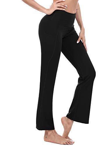 Sykooria Damen Yogahose Bootcut Slim Fit High Waist Flare Fitness Hose