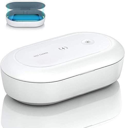 MIAO. UV Sterilisator Lamp Box Telefoon UV Sanitizer Light Box Telefoon Case, Draadloze oplader Draagbare Mobiele Telefoon Sterilizer, Aromatherapie Functie Cleaner