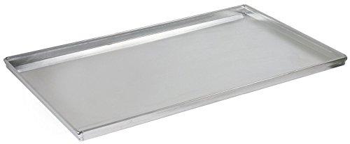 Backblech GN 1/1 aus 1,5 mm starkem Alublech, ungebeizt, aus einem Stück gezogen, Ränder 90° mit geschlossenen Ecken | ERK