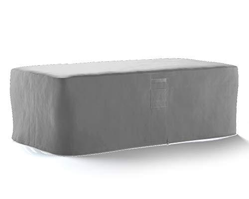 HBCOLLECTION® Housse Haute résistance 500D pour Table Salon de Jardin Gris (145x130 H76cm)