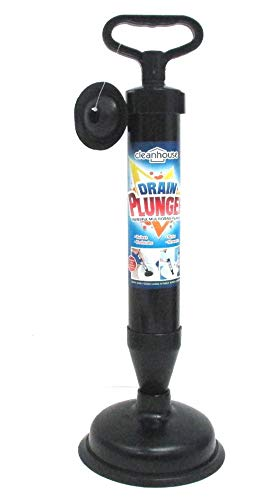 DINY Home & Style High Pressure Powerful Pump Multi-Drain Plunger Bathroom Kitchen Toilet Shower Sinks (Black)