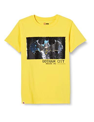 LEGO Jungen MW Wendepailletten Batman T-Shirt, 207 Yellow, 128
