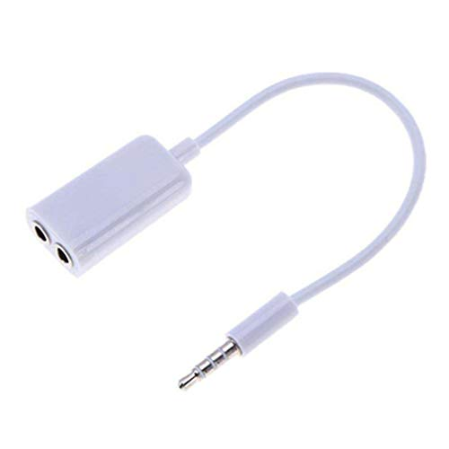 3,5 mm dubbele koptelefoon koptelefoon splitter kabel audio mobiele accessoires wit