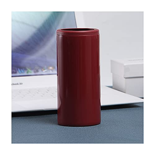 Slim Can Insulated Cooler, Double Wall Insulated Can Cooler, 304 Food Grade Stainless Steel, Strong and Durable, Cooler for 12 Ounces of Slim Beer and Hard Soda,Etc (Wine red)