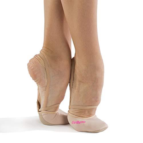 dvillena - Modelo Elite Fluor Fucsia | Famosa Marca de Punteras de Gimnasia Rítmica Niña y Mujer | Las Puntas Que Usan Grandes Gimnastas Mundiales | Bailarinas Aérobica Deporte Danza Zapatillas Ballet