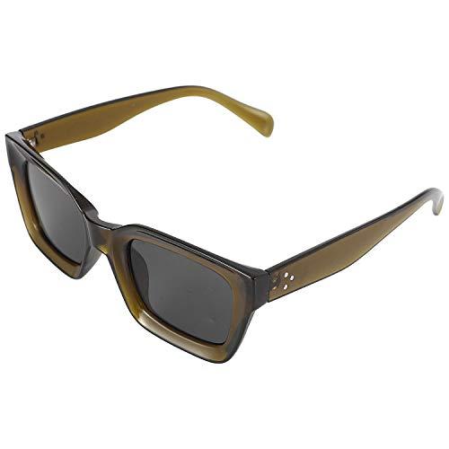 Gesh Gafas de sol cuadradas pequeñas retro para mujer, gafas de sol 90S, remaches transparentes, gafas Uv400 (verde)