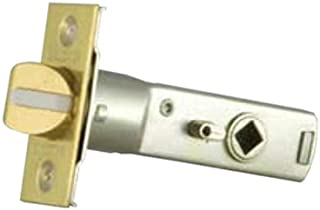 Baldwin 5513.030.P Tubular Privacy Lever Latch, Polished Brass - Lacquered