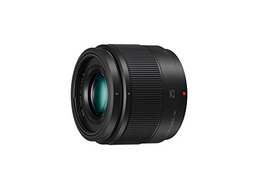 Panasonic Lumix 25mm F1.7 | Objectif à focale fixe H-H025E-K (Grand angle 25mm, Grande ouverture F1.7, Ultra compact, equiv. 35mm : 50mm) Noir – Compatible monture Micro 4/3 Panasonic & Olympus