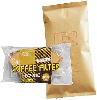 カリタ102コーヒーフィルター 2~4人用 100枚入り アメリカン・ブレンド/浅煎り 180g 18杯~24杯 [豆のまま] コーヒー豆/浅入り